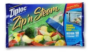 ziploc steam bags