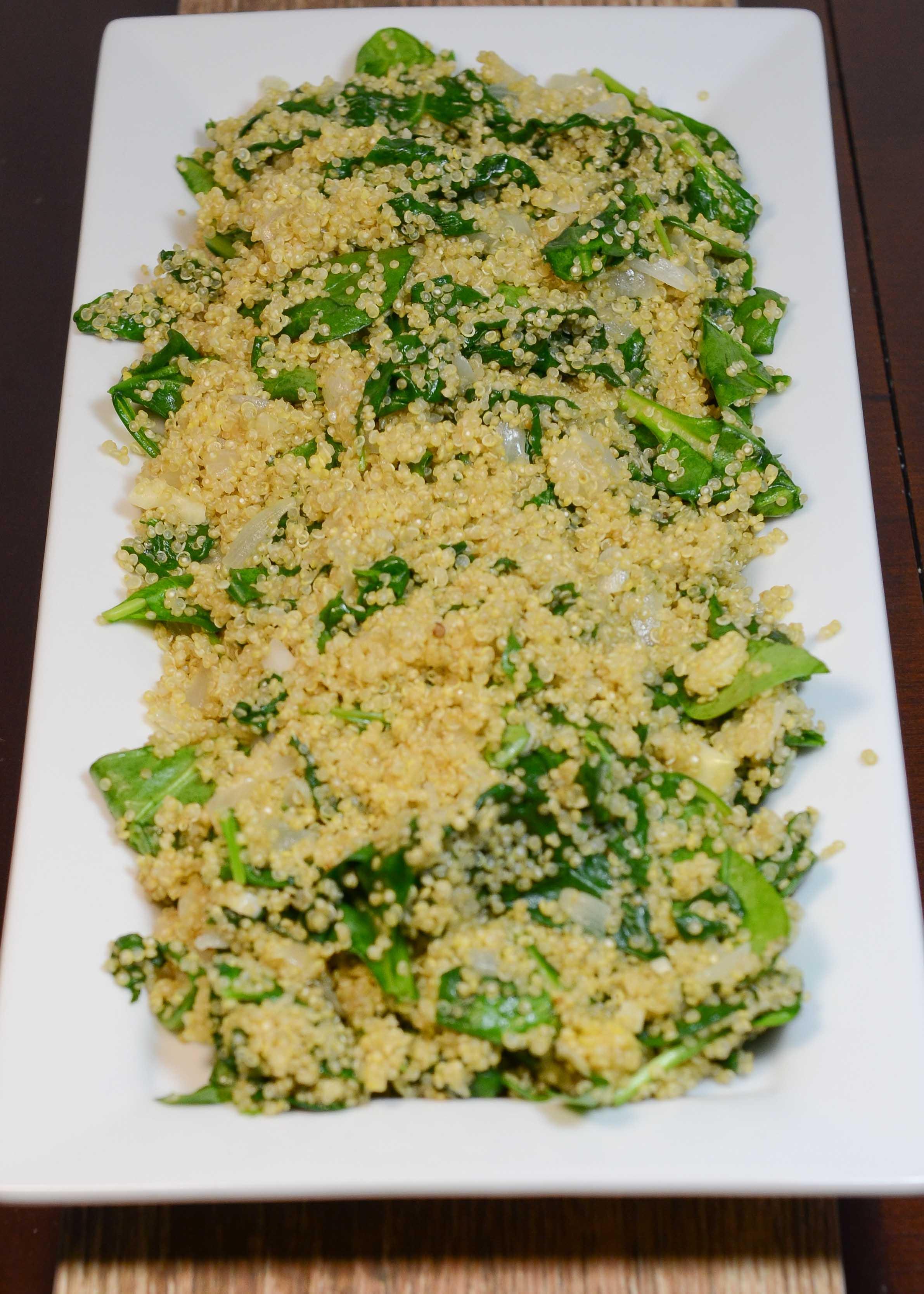quinoa spinach pilaf
